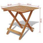 Festnight Table de jardin en Bois Pliante Table d'appoint 50 x 50 x 49 cm Bois de noyer massif de la marque Festnight image 4 produit