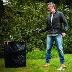 Fiskars Sac à végétaux pliable avec poignées, Capacité: 56 litres, Noir/Orange, Solid, 1015646 de la marque Fiskars image 4 produit