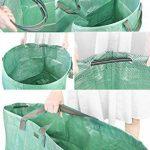 FiveSeasonStuff 3 sacs de déchets de jardin (272 litres), grand lourds devoir double coudre réutilisables sacs avec arceau de stabilisation flexible de la marque FiveSeasonStuff image 2 produit