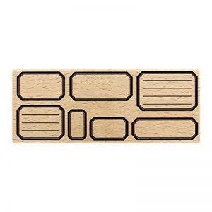 Florilèges Design Sept Étiquettes Ecole Tampon, Bois, 6 x 15 x 2,5 cm de la marque Florilèges Design image 0 produit