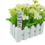 G2PLUS Lot de 100étiquettes pour plantes de jardin, 15cm plantes Plastique balises et marqueur, étanche Piquet de chambre d'enfant de graines de Labels–Gris chiné blanc de la marque G2PLUS image 2 produit