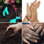 Gants de jardin de 2 paires, les deux griffes de main Gants de jardinage, rapides et faciles à creuser et usine, sans danger pour la taille rose pour des gants de femmes et d'hommes de la marque Coopache image 3 produit