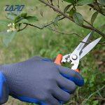 Gants de jardinage 2 paires XL gants de travail pour femmes et hommes gants de sécurité avec revêtement en latex pour jardinage, cuisine, gants de protection de la construction de la marque ZAPO image 1 produit