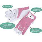 Gants de jardinage en cuir pour femme (taille petite / moyenne) - Slim-fit féminin. Ces gants idéaux pour tous les travaux dans le jardin ou la maison assurent une protection durable. Confortables, ils sont aussi solides, même pour tailler les Roses! Une image 2 produit