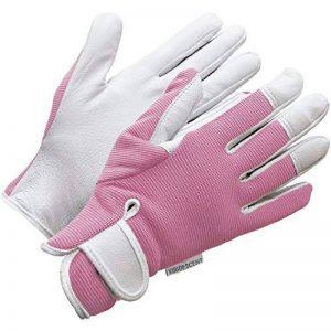 Gants de jardinage en cuir pour femme (taille petite / moyenne) - Slim-fit féminin. Ces gants idéaux pour tous les travaux dans le jardin ou la maison assurent une protection durable. Confortables, ils sont aussi solides, même pour tailler les Roses! Une image 0 produit