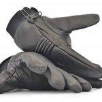 Gants doublés en cuir noir avec fourrure par Blok-IT - Gardez vos mains au chaud avec ces gants d'hiver élégants et confortables de la marque Blok-iT image 4 produit