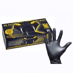 Gants en caoutchouc d'atelier nitrile Black Mamba –Boîte de 100 de la marque Black Mamba @ WOWOOO image 0 produit