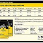 Gants en latex résistant aux produits chimiques par Double One Gants de protection industrielle de sécurité, Noir Longueur 31cm 1paire (Medium) de la marque XHIVAR image 1 produit