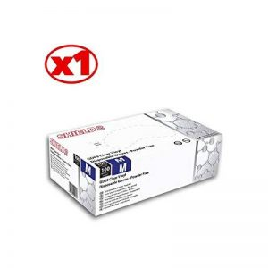Gants En Vinyle Transparent Shield2 - La Boîte De 100 - Non Poudré - Gd09 - By Antigua Health Care de la marque Antigua Health Care image 0 produit