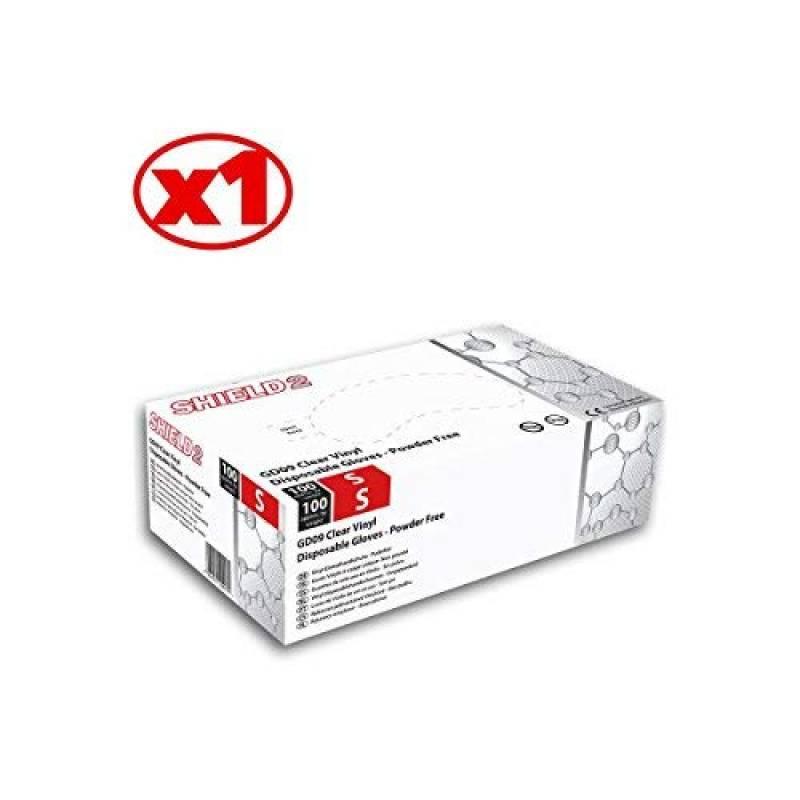 Gants m/édicaux Gloveman en vinyle transparent non poudr/é AQL 1.5 Trois bo/îtes