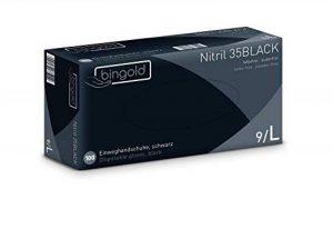 Gants jetables NIitril 35black, Lot de 100,tailles S, M, L ou XL de la marque BINGOLD image 0 produit