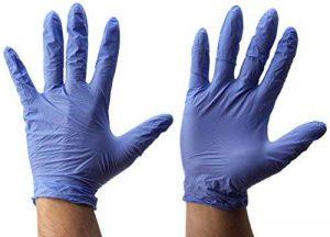 gants nitrile bleu non poudrés TOP 5 image 0 produit