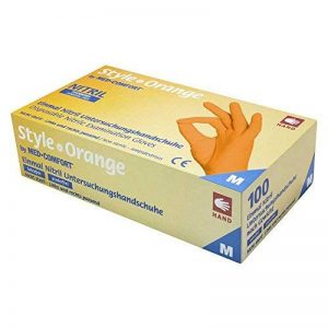 gants nitrile orange TOP 7 image 0 produit