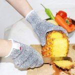 Gants résistant aux coupures Gants de cuisine Antidérapant, Protection de niveau 5 anti coupures Gants de travail pour Cuisine Jardinage Pingenaneer - S de la marque Pingenaneer image 2 produit