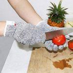 Gants résistant aux coupures Gants de cuisine Antidérapant, Protection de niveau 5 anti coupures Gants de travail pour Cuisine Jardinage Pingenaneer - S de la marque Pingenaneer image 4 produit