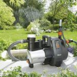 GARDENA Pompe d'arrosage de surface 6000/6 inox Premium: pompe d'arrosage durable, pour une utilisation en extérieur avec débit de 6000 l/h, boîtier inox, protection thermique (1736-20) de la marque Gardena image 1 produit