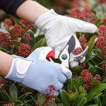 Gardenersdream Gants de travail/de jardinage encuir fins confortables de haute qualité pour hommes et femmes, bleu de la marque GardenersDream image 3 produit