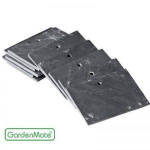 GardenMate® Lot de 10 signets marque-plantes en ardoise 10 x 7 cm - style moderne de la marque GardenMate® image 0 produit