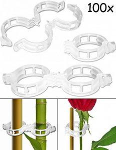 Home Tools. UE®–100x plantes de clips de fixation | passants pour arbustes, sapin, roses, pfanz de baguettes, aide de Rank | 3x 7cm, plastique, Lot de 100 de la marque HomeTools.eu image 0 produit