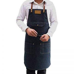 Jiyaru Tablier Homme Tablier Cuisine en Denim Réglable Tablier Travail 78x60cm de la marque Jiyaru image 0 produit