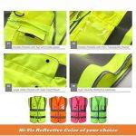 """JKSafety 9 poches de classe 2 """"gilet de sécurité haute visibilité devant avec des bandes réfléchissantes, jaune répond aux normes EN ISO 20471 - Unisexe(XX-Large) de la marque JKSafety image 3 produit"""