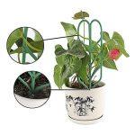 JYCRA support pour plantes de jardin Treillis, DIY Pot de jardin Mini Treillage pour plantes en pleine Croissance support–Forme de feuille, Vert 3Set/9pcs Green de la marque JYCRA image 1 produit