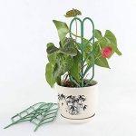 JYCRA support pour plantes de jardin Treillis, DIY Pot de jardin Mini Treillage pour plantes en pleine Croissance support–Forme de feuille, Vert 3Set/9pcs Green de la marque JYCRA image 3 produit