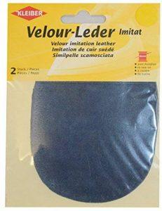 Kleiber 12.5 x 10 cm Patchs à coudre simili daim pour genoux/coudes ovales, Bleu poudre de la marque Kleiber image 0 produit