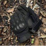 KT-SUPPLY Gants Militaire Gants Protection Gants Armée Gants Moto Gants Chasse Doigts Complet Pour Adulte Noir Xlarge de la marque KT-SUPPLY image 4 produit