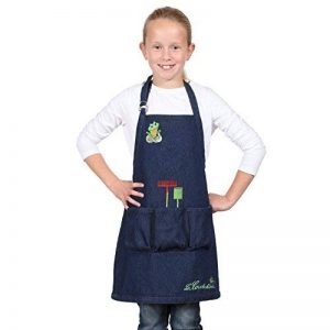 La cordeline CJN45JEG Tablier de Jardin Enfant avec Ecussons/Poches Taille 6 à 8 ans Coton Bleu Jean H 56 x L 46 cm de la marque La cordeline image 0 produit