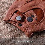 les gants de daim sans doigts hommes demi nappaglo conduite moto cyclisme riding non doigt de gants en cuir de la marque Nappaglo image 4 produit