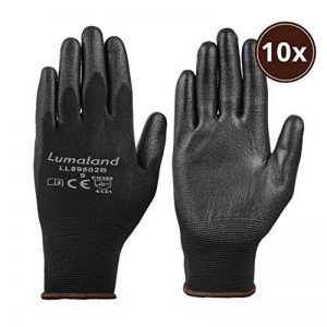 Lumaland Gants de travail léger en nylon tricoté 10 Paires norme EN 388 4131 taille L de la marque Lumaland image 0 produit