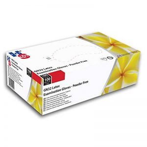 Main Safe Gn32/XL Gn32sans poudre Gants d'examen en latex, taille 10/XL, Blanc (lot de 100) de la marque Hand Safe image 0 produit