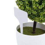 Marqueurs Etiquettes Plante de Pépinière Arbustes Semis Bouture Type T Jardin Kit 100pcs 10*6cm Gris de la marque Générique image 1 produit