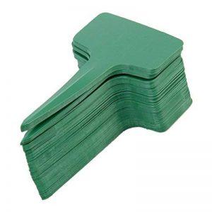 Marqueurs Etiquettes Plante de Pépinière Arbustes Semis Bouture Type T Jardin Kit 100pcs 10*6cm Vert de la marque Générique image 0 produit