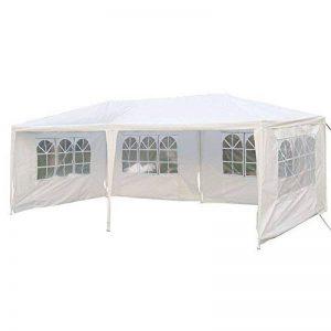 b/âche imperm/éable en PE 4 x fen/êtres MCTECH 3 x 6 m blanc Tente de r/éception exterieure Tente de jardin Pavillon Tente de bi/ère Tente de f/ête Pavillon de f/ête comprenant,4x parois lat/érales