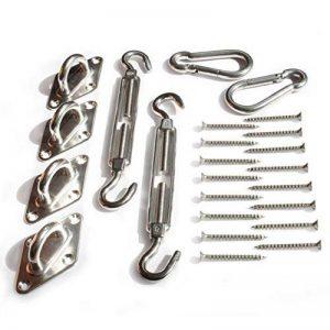 MI:KA:FIX Kit de montage en acier inoxydable de haute qualité | y compris les vis en acier inoxydable de haute qualité | pour voile d'ombrage, protection de vision, bâche, treillage, bannière publicitaire de la marque MI:KA:FIX image 0 produit