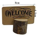 MZTD 20pcs Stand en Bois Porte-Cartes en Bois Support Photo Carte Nom Place Numéro Table pour Boulangerie Mariage Fête Anniversaire+50pcs Kraft Papier Carte de la marque MZTD image 3 produit