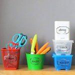 Nardo Visgo transparente Stickers étiquettes avec bord argenté, amovible étanche Transparent bocaux étiquettes en tailles assorties pour bocaux, boîtes de rangement ou Craft Décoration, 138pcs de la marque Nardo Visgo image 2 produit