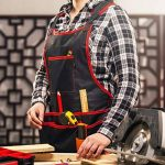 Nocry Outil Professionnel de Tablier de travail en toile avec 16poches, Entièrement réglable, étanche et protectrice, Noir de la marque NoCry image 4 produit