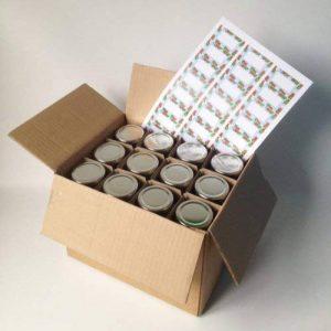 Nutley's Lot de 24 pots à confiture avec couvercle et étiquette Argenté 240 ml de la marque Nutley's image 0 produit