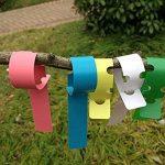 Ounona Plante étiquettes Chambre d'enfant Jardin Lables étiquettes à suspendre Arbre étiquettes 100pcs (Couleurs mélangées) de la marque OUNONA image 1 produit