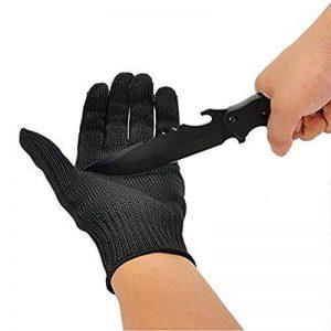 OVOS Gants de travail fibres d'acier inoxydable Gants résistant à la coupure, Gants de protection anti-coupure anti-statique - Niveau 5 de résistance à la coupure, Gants de sécurité ultra-résistant de la marque OVOS image 0 produit