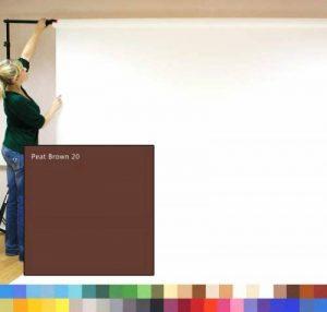 PEAT BROWN - BRUN DE TOURBE - Creativity Background Papers - Exposé introductif de studio photographique, Papier de studio de photographie, 2.72m x 11m, contexte du poids lourd 180gsm. de la marque image 0 produit
