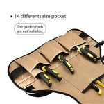 PEEF Tablier d'outils - Tablier de travail professionnel robuste avec 14 poches à outils et ceinture ajustable Tablier d'outils de jardinage résistant à l'eau pour hommes et femmes Machinistes de la marque PEEF image 3 produit