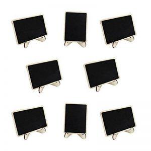 PIXNOR 10pcs Mini Rectangle Ardoises avec Debout pour Message Board Signes Mariage Dîner Party Tableau Place Carte de la marque Pixnor image 0 produit