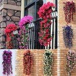 Plante retombante fleurie artificielle Bouquet de violettes de la marque LHLhouse image 2 produit