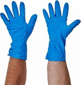 Polyco 300–10Fini HD manchette longue nitrile Gants, Taille 10, bleu (Lot de 2) de la marque Polyco image 0 produit