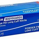 Polyco 300–7HD fini manchette longue nitrile Gants, Taille 7, Bleu (Lot de 2) de la marque Polyco image 1 produit