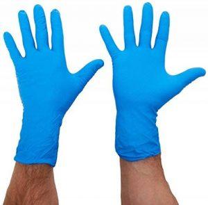 Polyco 300–8HD fini manchette longue nitrile Gants, Taille 8, Bleu (Lot de 2) de la marque Polyco image 0 produit